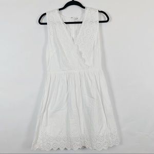 J. Crew Border Eyelet Dress
